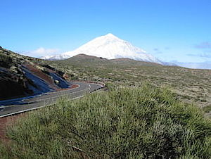 "The ""Pico del Teide"" with snow **"